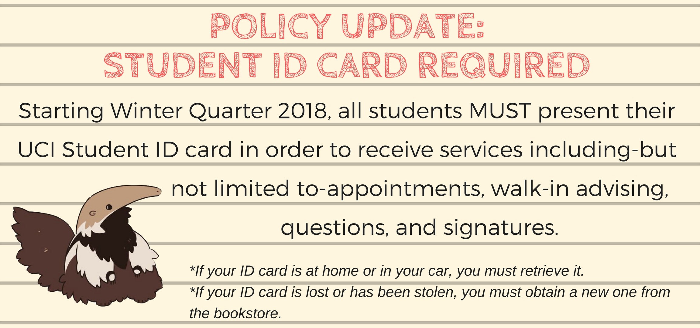 UCI ID card policy