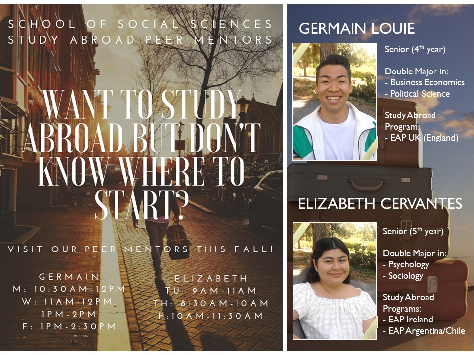 Study Abroad Peer Mentors Fall 2018 Office Hours